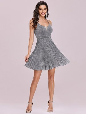 EY3120GY grey short evening gown eternally yours