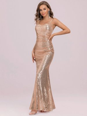 ey7339rg sparkly rose gold long evening gown eternally yours