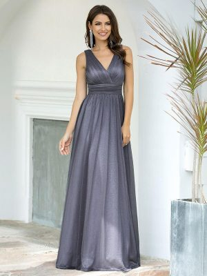 ey7764gy grey sparkly long evening gown eternally yours
