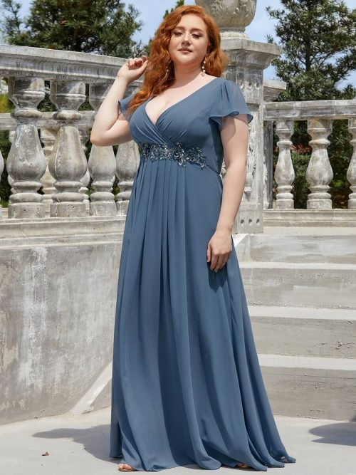ey50059 blue chiffon long evening gown eternally yours