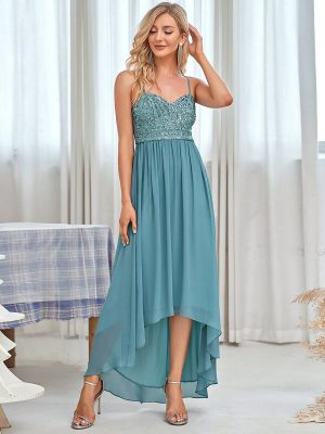 ey50068db blue high low chiffon long evening gown eternally yours