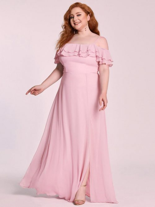 ey80085mv mauve pink chiffon off shoulder long evening gown eternally yours